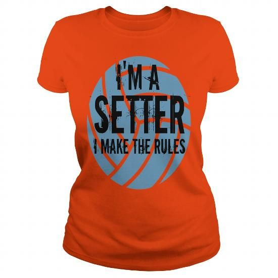 Im A Setter I make the rules. Volleybragswag volleyball sayings tshirt