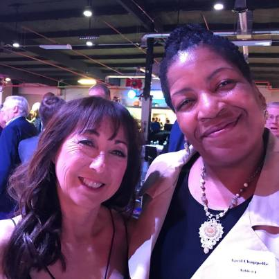 Debbie Green and I at the Southern California Indoor Volleyball Hall of Fame Ceremony May 2018