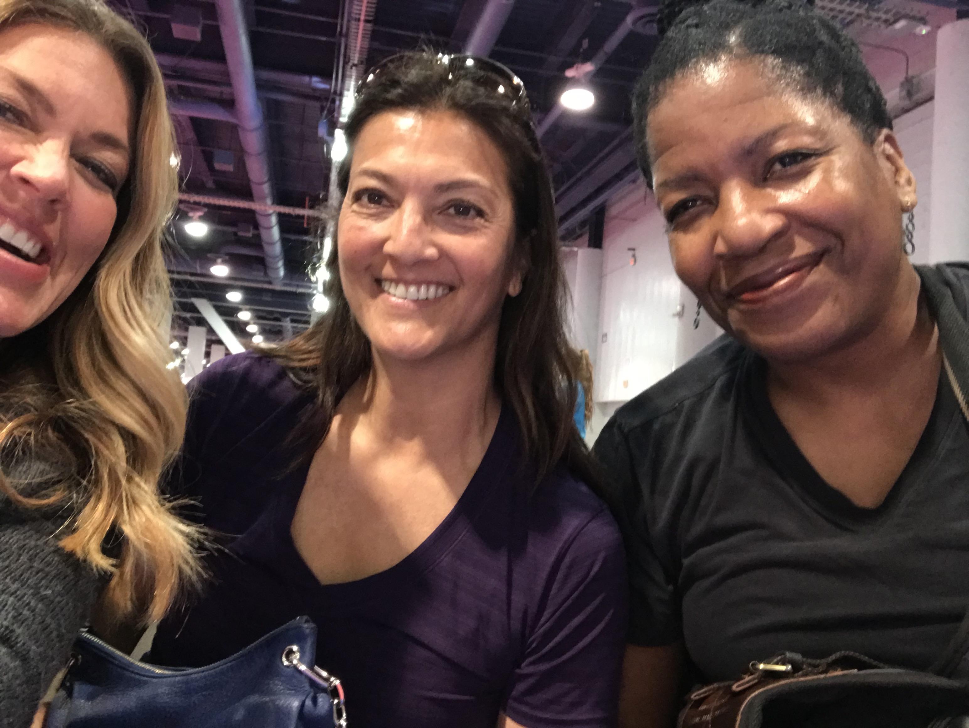 Liz Masakayan and April Chapple at the Las Vegas Convention Center