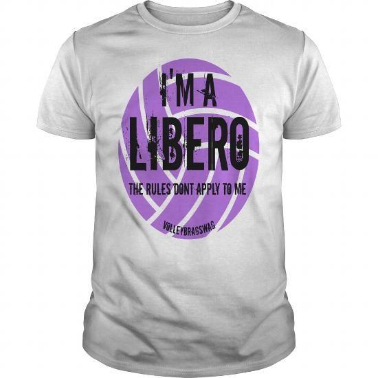 Im a libero volleybragswag volleyball sayings tshirt
