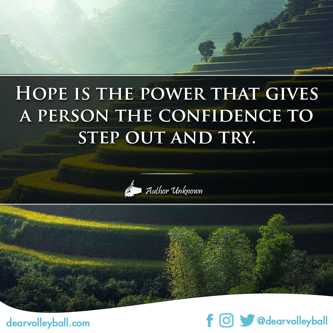 Confidence quotes on DearVolleyball.com