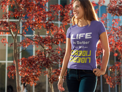 Life is better as a LIBERO and other Volleybragswag volleyball tshirts on DearVolleyball.com