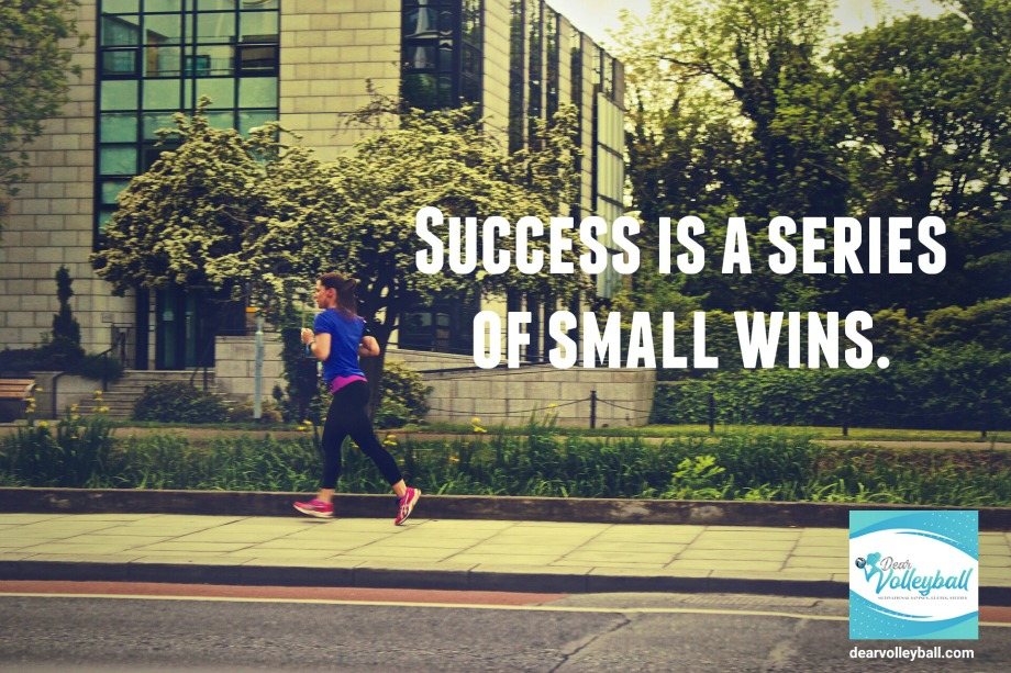 Success is a series of small wins and 54 short inspirational quotes on DearVolleyball.com