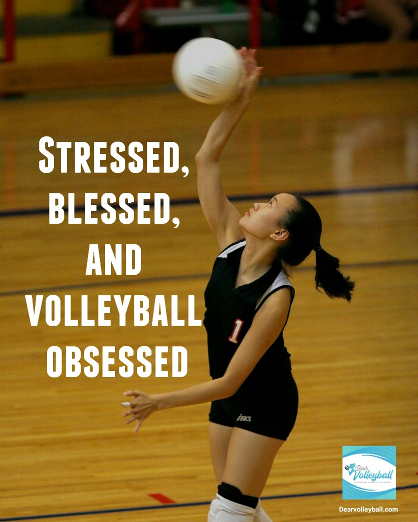 Stressed, blessed and volleyball obsessed and 54 short inspirational quotes on DearVolleyball.com