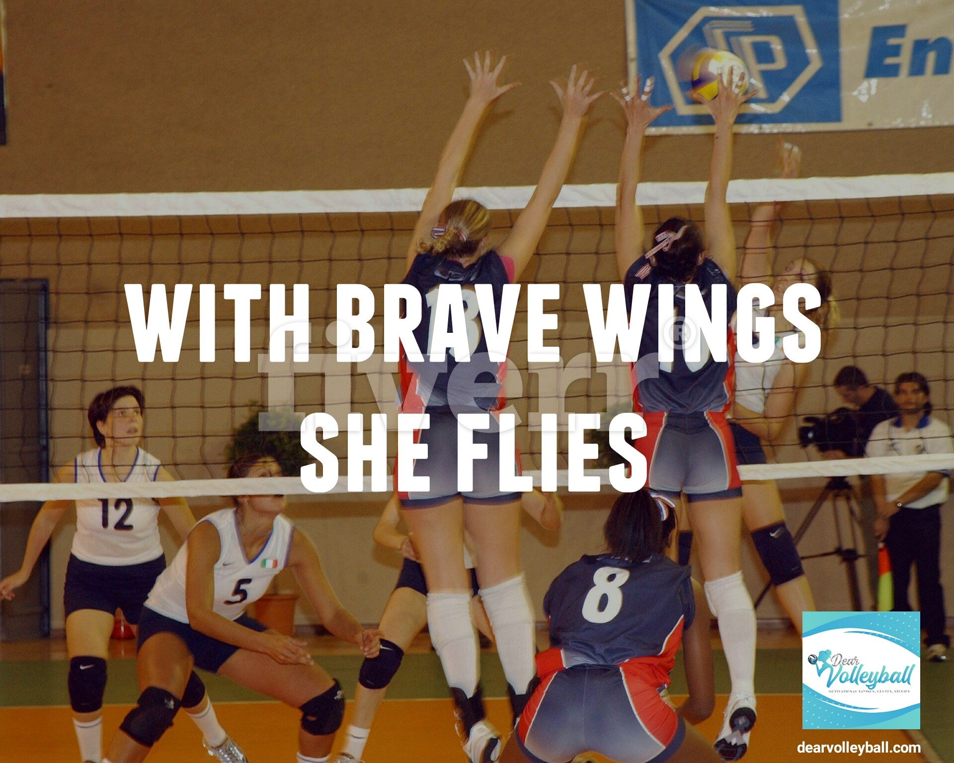 With brave wings she flies and 54 short inspirational quotes on DearVolleyball.com