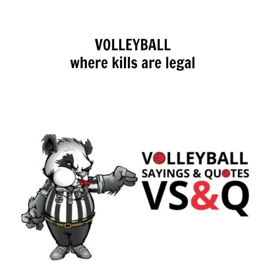 Volleyball Quotes and Sayings - volleyball kills are legal